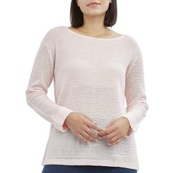Womens Solid Button Back Beach Sweater