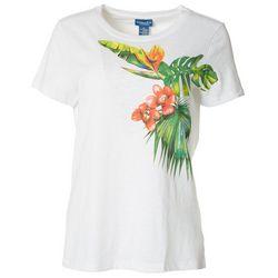 Caribbean Joe Womens Tropic Short Sleeve Top