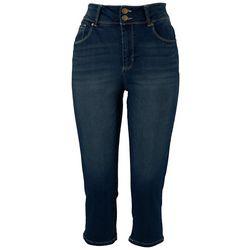D. Jeans Capri Womens 21'' Side Split Capris