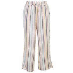 Per Se Womens Frayed Camo Drawstring Shorts