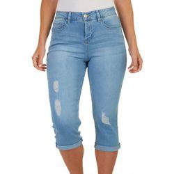 Royalty by YMI Womens Slim Stretch Solid Capri Jeans