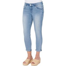 Democracy Womens Low Rise Roll Cuff Ankle Jeans