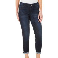 Democracy Womens Ab-solution Roll Cuff Denim Jeans