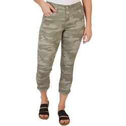 Democracy Womens Ab-solution Camo Roll Cuff Ankle Jeans
