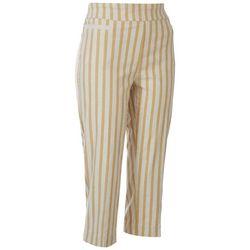 Zac & Rachel Womens Stripes Capris
