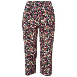 Counterparts Womens Floral Printed Capris