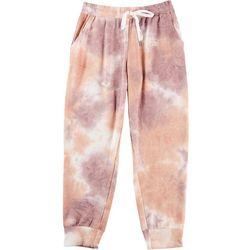 Gilli Womens Tie Dye Brushed Drawstring Sweatpants