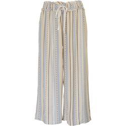 Womens Flowy Tropical Striped Beach Pants