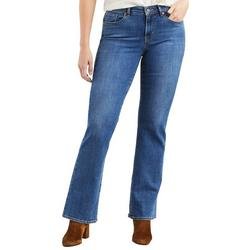 Womens Classic Straight Leg Flat Jeans