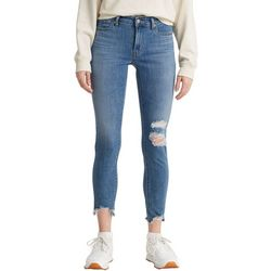 Levi's Womens 711 Skinny Destructed Ankle Jeans