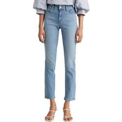 Womens Classic Mid-Rise Crop Jeans