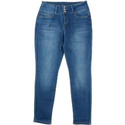 Royalty by YMI Womens Three Button Slim Stretch Denim Jeans