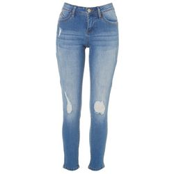 Royalty by YMI Womens WannaBettaButt Skinny Ripped Jeans