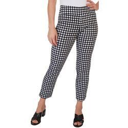 Zac & Rachel Womens Checkers Capri Pants