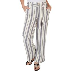 Womens Straight Fit Linen Pants