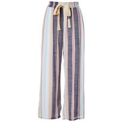 Womens Striped Slub Pants