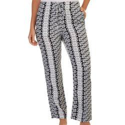 Per Se Womens Classic Tie-Dye Loose Pants
