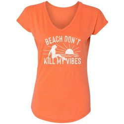 Blue Sol Womens Beach Don't Kill My Vibes T-shirt