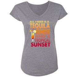 Blue Sol Womens All I Need Is A Tequila T-Shirt