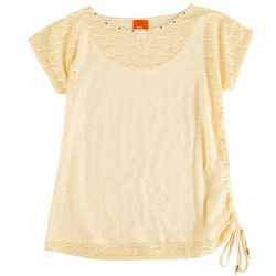 Hearts of Palm Womens Fishnet Side Tie Top