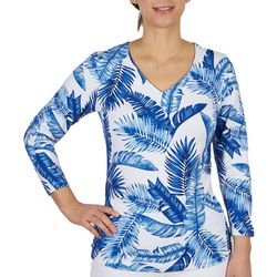 Hearts of Palm Womens Tropical 3/4 Sleeve Top