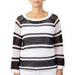 Hearts of Palm Womenss Stripe Overlay Top
