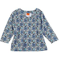 Hearts of Palm Womens Essentials Medallion Print Top
