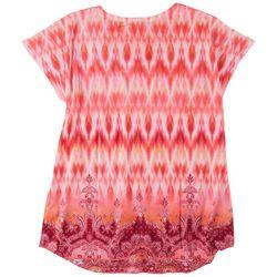 OneWorld Womens Embellished Promo Short Sleeve Top
