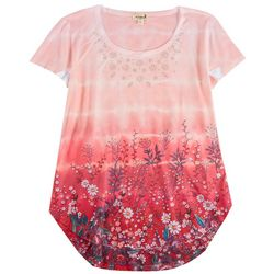 OneWorld Womens Tie-Dye Floral Top