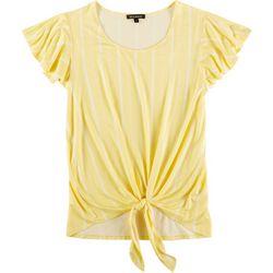 Tint & Shadow Womens Vertical Stripe Top