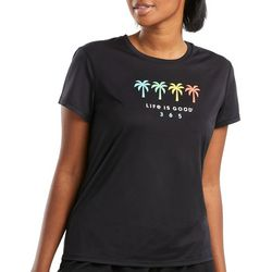 Life Is Good Womens Coconut Trees T-Shirt