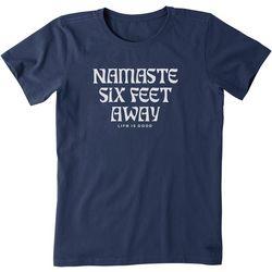 Life Is Good Womens Crew Neck Namaste T-Shirt