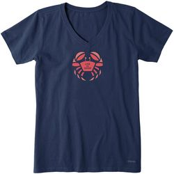 Life Is Good Womens The Crab T-Shirt