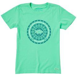 Life Is Good Womens Fish Mandala T-Shirt