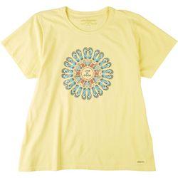 Life Is Good Womens Flip Flop Mandala Crusher T-Shirt