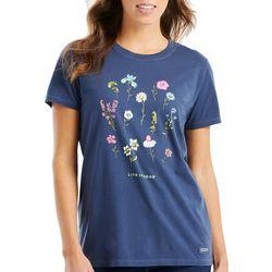 Life Is Good Womens Wild Flowers Crusher T-Shirt