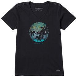 Life Is Good Womens Mandala Sky V-Neck T-Shirt