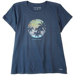 Life Is Good Womens Beach Please 100% Mandala Cool T-Shirt