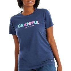 Life Is Good Womens Grateful T-Shirt