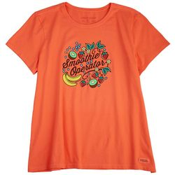 Life Is Good Womens Smoothie Operator T-Shirt