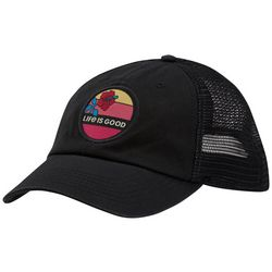 Life Is Good Womens Embroydery Mesh Hat