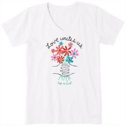 Life Is Good Womens Love Unites Us T-Shirt