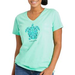Life Is Good Womens Nordic Turtle T-Shirt