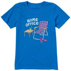 Life Is Good Womens Home Office Crew T-Shirt