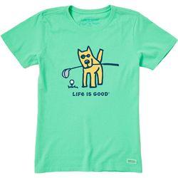 Life Is Good Womens Golf Dog T-Shirt