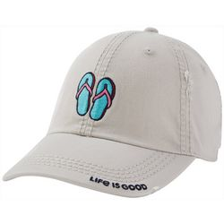 Life Is Good Womens Flip Flops Embroidery Baseball Hat
