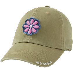 Life Is Good Womens Frayed Flower Cap