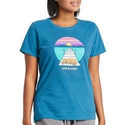 Life Is Good Womens Dock Dog T-Shirt
