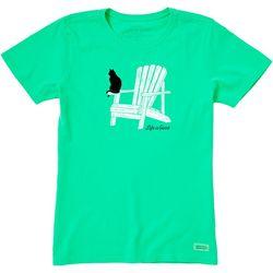 Life Is Good Womens Catirondack Crusher T-Shirt