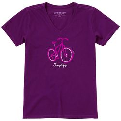 Life Is Good Womens Simplify Short Sleeve T-Shirt